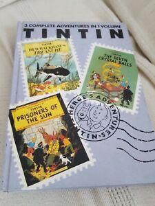 3 Adventures of Tintin red rackham treasure 7 crystal balls prisonners sun Vol 4