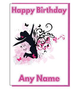Personalised Street Dancer Birthday Card - Girls Daughter Sister Best Friend