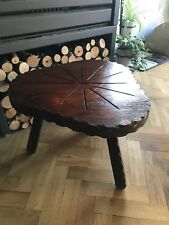 Side Table Rustic french coffee vintage retro stool oak shabby chic