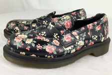 37 Doc Marten Addy Floral Victorian Print Loafers Womens Black Pink