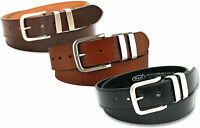 """NEW MENS BLACK BROWN OR TAN LEATHER LINED BELT 5056 SIZE LARGE 36"""" WAIST NWT"""