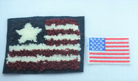 2x US USA FLAG AMERICA Embroidered Iron Sew On Cloth Patch Badge Applique Plush