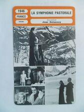 CARTE FICHE CINEMA 1946 LA SYMPHONIE PASTORALE Michèle Morgan Pierre Blanchar Li