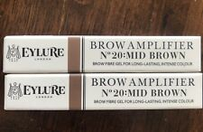 Eylure Set Of 2! Brow Amplifier Mid Brown No 20 Cosmetics Nib lot Holiday Gift