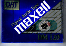 NEW MFD IN JAPAN  ONE  DAT  MAXELL  DM-120   DIGITAL AUDIO TAPE : STILL SEALED