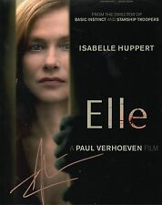ISABELLE HUPPERT - Signed 10x8 Photograph - FILM - ELLE