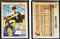 Dave Tobik Signed 1983 Topps #691 Card Detroit Tigers Auto Autograph