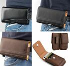 For Samsung Galaxy Note 10+ Plus - Leather Belt Clip Pouch Holster Card Case