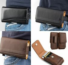 For BlackBerry KEY2 / KEY2 LE - Leather Belt Clip Pouch Holster Card Holder Case