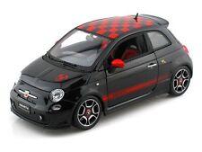 2008 Fiat Abarth 500 Black 1/18 Scale Diecast Car Model BY Bburago 12078
