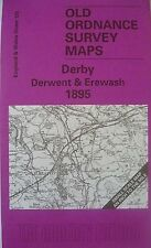 OLD ORDNANCE SURVEY MAP DERBY DERWENT EREWASH  & PLAN  WHATSTANDWELL 1895 S125