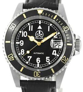 OLLECH & WAJS O&W Precision Gold M1 MilSub Automatic Date Mens  Wrist Watch