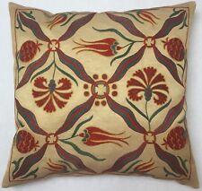 Exklusive Vintage Uzbeki Suzani Embroidery Kissen Pillow almohada Oreiller silk