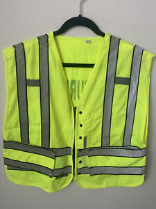 High Visibility Safety Vest Bundle ANSI/ISEA Type R 107-2015 Sz LG Security 3M