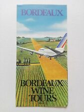 Vintage Bordeaux Air France Advertising Travel Brochure - Wine Tours France 80s