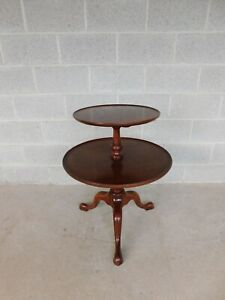 BIGGS / Kittinger Mahogany Queen Anne Style Tiered Butler Table