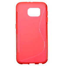 HOUSSE ETUI COQUE SILICONE GEL ROUGE SAMSUNG GALAXY S6