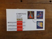 NEW ZEALAND 1985 CHRISTMAS SET 3 STAMPS FDC FIRST DAY COVER