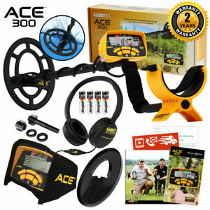 """Garrett ACE 300 Metal Detector with 7"""" x 10"""" PROformance Search Coil and Extras"""