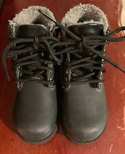 Youth Boys Black Water Proof Boots Size 10 1/2 By Smart Fit
