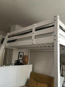 Lit Mezzanine adulte / 2 places IKEA (sans matelas)