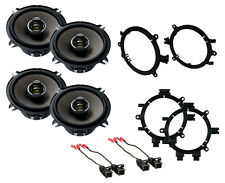 "NEW PIONEER 5.25"" 2-WAY D-SERIES COAXIAL FRONT & REAR DOOR SPEAKERS W MOUNTS"