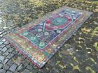 Carpet, Turkish rug, Vintage rug, Handmade rug, Runner, Wool   4,1 x 9,1 ft