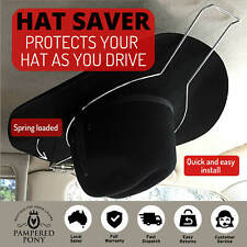 Car Hat Holder Saver Equestrian Riding Helmet Akubra Hard Hat Spring Loaded New