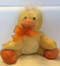 "Dan Dee Collectors Choice 6""  Yellow Sitting Plush Stuffed Chick/Duck Animal"