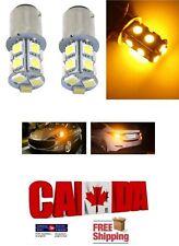 2x 1156 BA15S Amber Yellow LED 13SMD 5050 Car Reverse Turn Signal Lights DRL