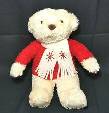 "Hallmark Christmas Holiday 12"" Plush Bear Stuffed Animal Red Sweater, Very Soft"