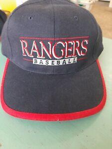 NEW Texas Rangers Baseball FINA sponsored Hat Cap Navy Blue and Red