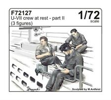 CMK 1:72 U-boat crew at rest part II (3 fig.) Resin Figure #F72127