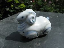 Antique Fine Chinese Oriental Pottery Glazed Water Dropper Ram Figurine