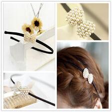 Hot Fashion Korean Style Women Girl Pearls Bow Hairband Headband Hair Accessory
