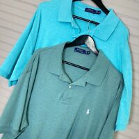 Polo Ralph Lauren S/S Pullover Shirt Lot of 2: Green/Blue Men's Size 2XB BIG