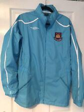 Mens Westham united umbro skybkue Jacket Worn Once medium