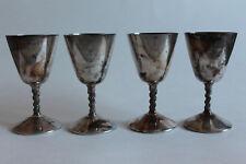 Set Of 4 Primrose Plate Goblets