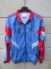 Veste ADIDAS vintage EQUIPE DE FRANCE FFF années 90 nylon tracktop jacket bleu