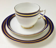 Royal Albert - Tea Cup Trio - Pattern no. 4712 - Cobalt Blue & Gold Rim
