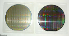 "2 Silicon 6"" Wafers vintage computer chip models"