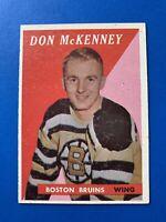 Don McKenney 1958-59 Topps Hockey Card #62 Boston Bruins