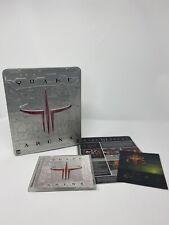 Quake III 3 Arena PC Video Game Metal Tin Missing manual Opened