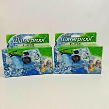 Fujifilm Waterproof Quick Snap Disposable Camera Lot of 2 NEW Fuji 800 Film