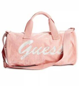 Guess Women Velvet Duffle Bag Blush