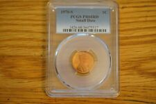 1970-S Lincoln Memorial Cent PCGS PR68RD, Small Date