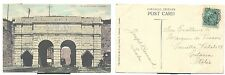 POST CARD  QUEBEC  CANADA  VIAGGIATA 1905   ST JOHN'S GATE QUEBEC