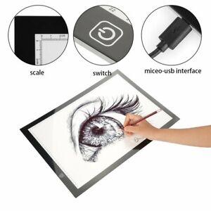LED Drawing Board Tracing Light Box Stencil Tattoo Copy Artist Craft Table WE
