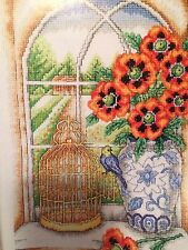 Birdcage And Blooms Cross Stitch Chart