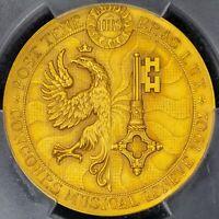 Medal 1902 PCGS SP66 Switzerland Geneva Music Festival Very Rare Gem BU